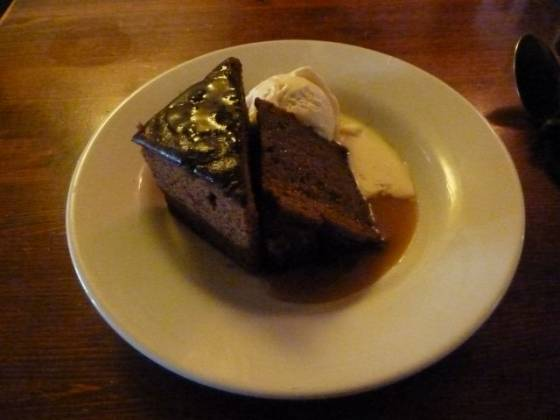 The White Horse, Sundridge - Sticky Toffee Pudding Dessert