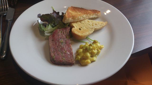 The White Lion, Aldeburgh - pork terrine starter